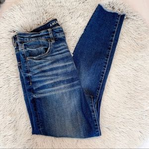 Highest Waist American Eagle Jeggings ripped knees